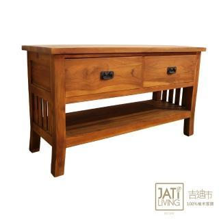 【吉迪市柚木家具】開放式二抽收納電視櫃