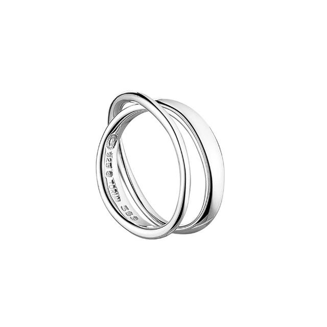 【Georg Jensen 喬治傑生】MOBIUS純銀雙環戒指(3552341-45)