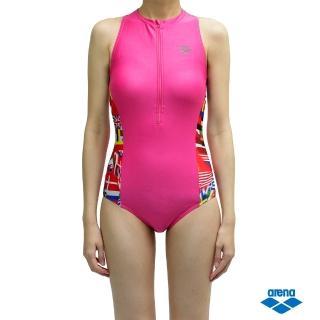 【arena】泳衣 女泳裝 女用 連身 三角 FSS6235WA(無鋼圈胸墊 高挑顯瘦)