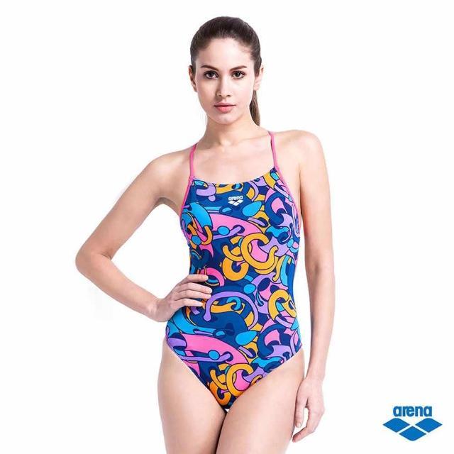 【arena】女用連身三角泳衣 TSS6110WA(無鋼圈胸墊 高挑顯瘦)