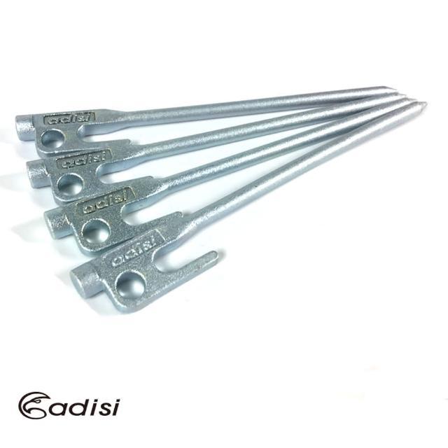 【ADISI】强化铸造营钉 AS17034 一组四支(营钉、帐篷配件、营柱营绳、 铸铁镀锌)