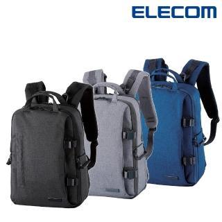 【ELECOM】帆布多功能質感後背包(M)