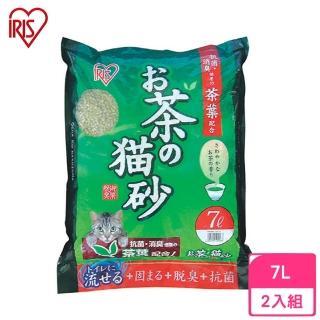 【IRIS】靜岡縣綠茶貓砂 7L(2包組)(OCN-70)