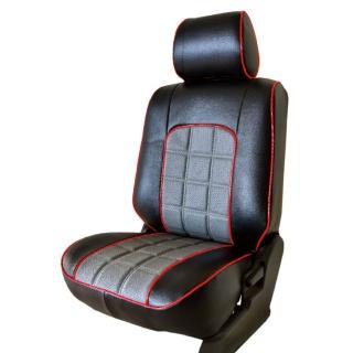 【葵花】量身訂做-汽車椅套-日式合成皮-格紋配色-C款(轎車款第1+2排)