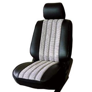 【葵花】量身訂做-汽車椅套-日式合成皮-賽車條紋-A款(雙前座-第一排)