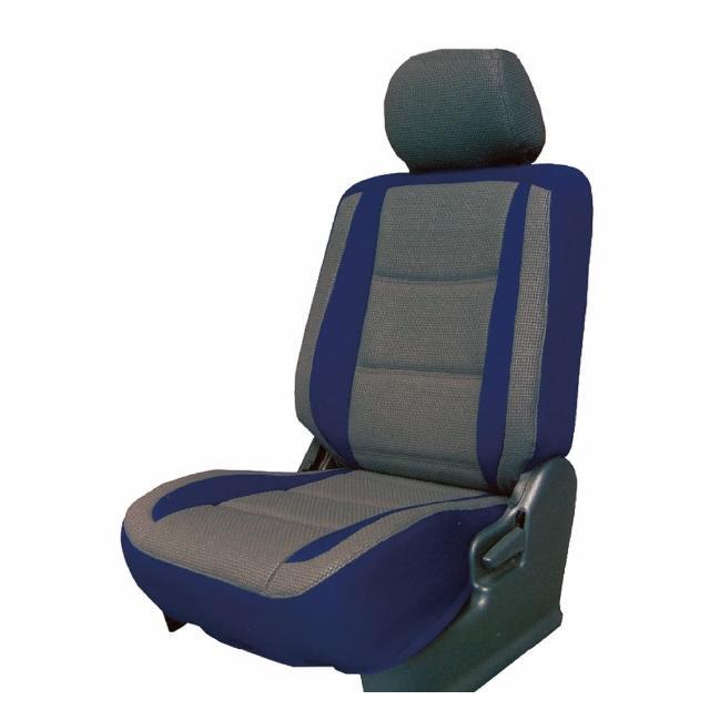 【葵花】量身訂做-汽車椅套-日式合成皮-賽車流線配色(轎車款第1+2排)