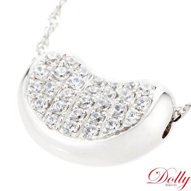 【DOLLY】0.50克拉 14K金鑽石項鍊(相思豆)
