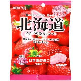 【Ribon 立夢】草莓牛奶軟糖(66g)