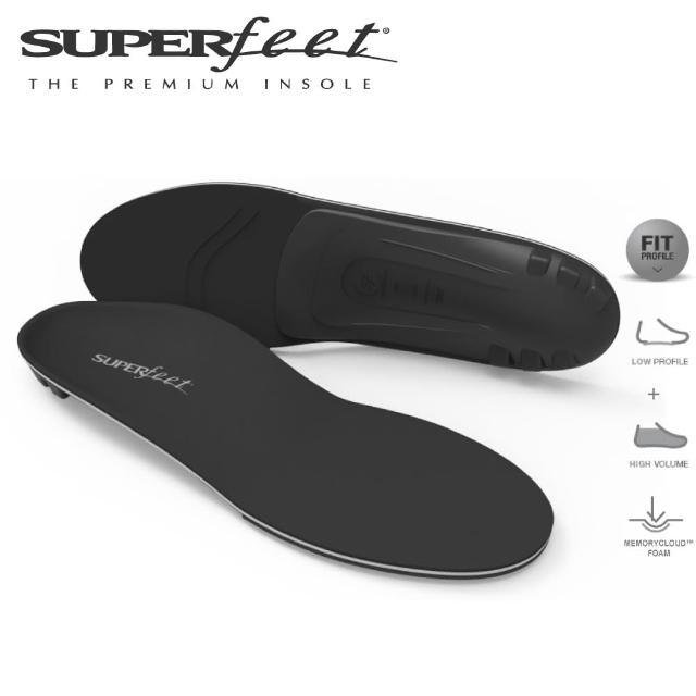 【SUPERfeet】健康慢跑登山健行多用途足弓鞋垫(黑色)