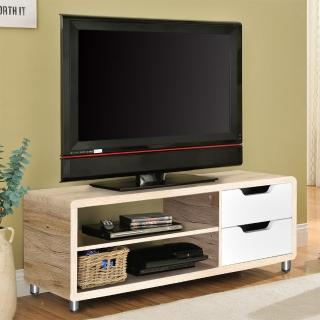【FUN生活】DIY曼格尼電視櫃/茶几桌/邊桌(淺橡+白色)