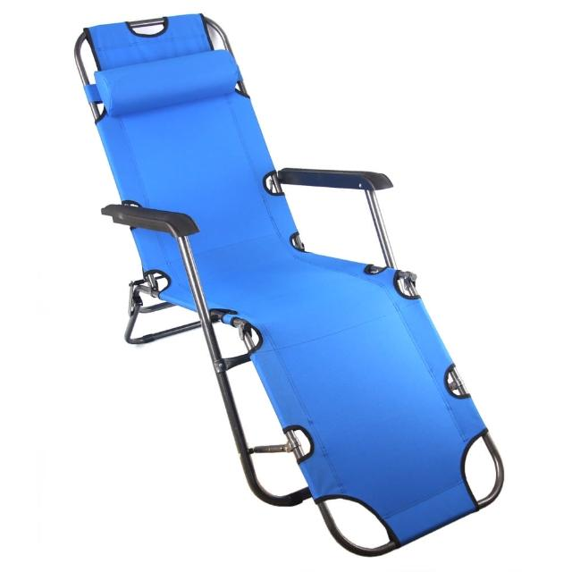 【TreeWalker】单人三段式躺椅、露营床(蓝)