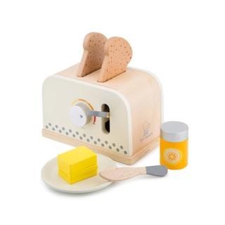 【New Classic Toys】木製家家酒麵包機 - 優雅白(10706)