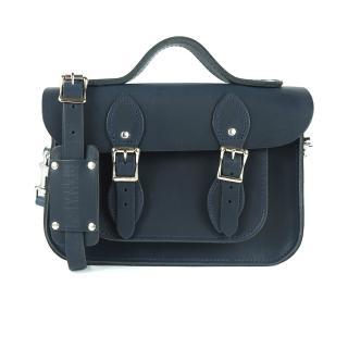 【The Leather Satchel Co.】11吋 英國手工牛皮劍橋包 手提包 肩背包(霧墨深藍)
