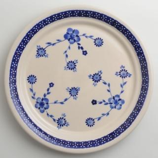 【波蘭陶】歐式青花系列 圓形餐盤 25cm 波蘭手工製