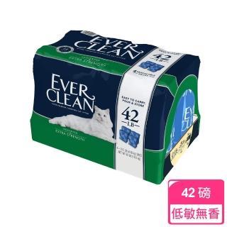 【EverClean 藍鑽】低敏結塊貓砂藍標袋裝-42磅(無香味/低過敏)