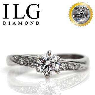 【ILG】頂級八心八箭擬真鑽石戒指-RI003-50分甜心魅力款鑽戒 小資女OL獨愛(戒指)