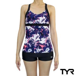 【TYR】Verona 系列連身四角泳衣(後背挖空設計小性感 Aeroback肩帶穩定舒適)