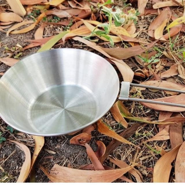 【may shop】锈钢野营碗折叠便携野餐碗登山碗