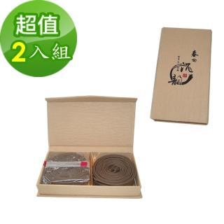 【金發財金紙】頂級水沉之惠安沉盤香小盤 4H-24片(2入組-盤香系列)
