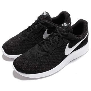 【NIKE 耐吉】慢跑鞋 Tanjun 運動 休閒 男女鞋 低筒 黑底白勾 球鞋 透氣 網布 男 女 黑 白(812654-011)