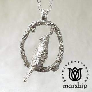 【Marship】日本銀飾品牌 葡萄與鸚鵡項鍊 925純銀 亮銀款(項鍊)