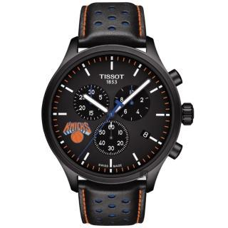【TISSOT 天梭】CHRONO XL NBA 尼克隊特別版計時錶-45mm(T1166173605105)