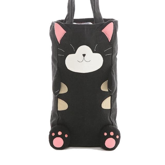 【日系KIRO貓】水壺袋貓老大水瓶袋/保溫杯袋/手提袋/環保袋(221572)