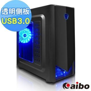 【aibo】修羅 USB3.0 透明側板 全黑化架構電腦機殼