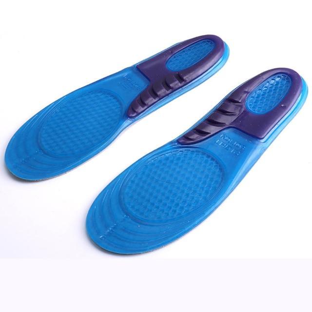 【EZlife】加厚矽胶减震运动鞋垫(2双组)
