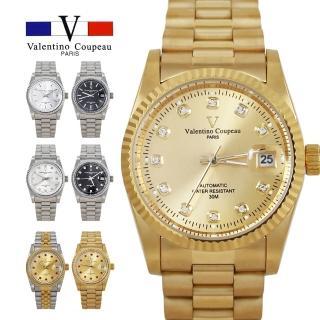 【Valentino Coupeau】范倫鐵諾 古柏  自動上鍊機芯不鏽鋼殼帶手錶