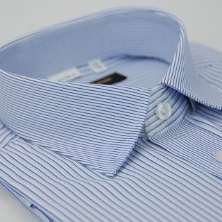 【金安德森】藍白條紋相間變化領窄版短袖襯衫