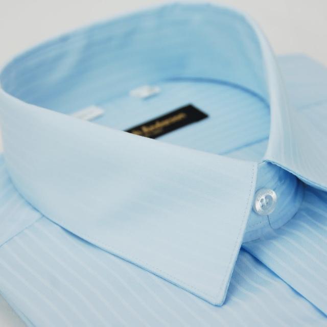 【金安德森】藍色類絲質窄版短袖襯衫