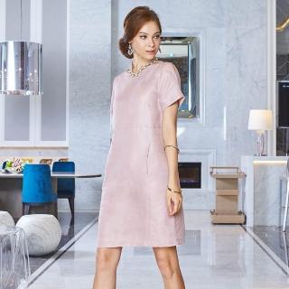 矜蘭妃-高級訂製服同步絲麻緞洋裝