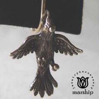 【Marship】日本銀飾品牌 鸚鵡耳環 展翅飛翔款 925純銀 古董銀款 夾式耳環(耳環)