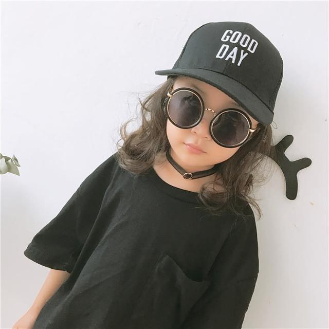 【PS Mall】韓版兒童棒球帽鴨舌帽刺繡字母goodday(B018)