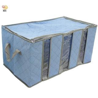 月陽60cm彩色竹炭3格衣物收納袋整理箱C120LN