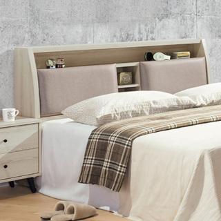 【AS】瑪莉灰橡6尺枕頭型床頭-182x30x102cm