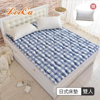 【送舒眠枕x1】LooCa可水洗+超透氣支撐型日式床墊/野餐墊/露營墊-雙人5尺(共三款-好口碑)