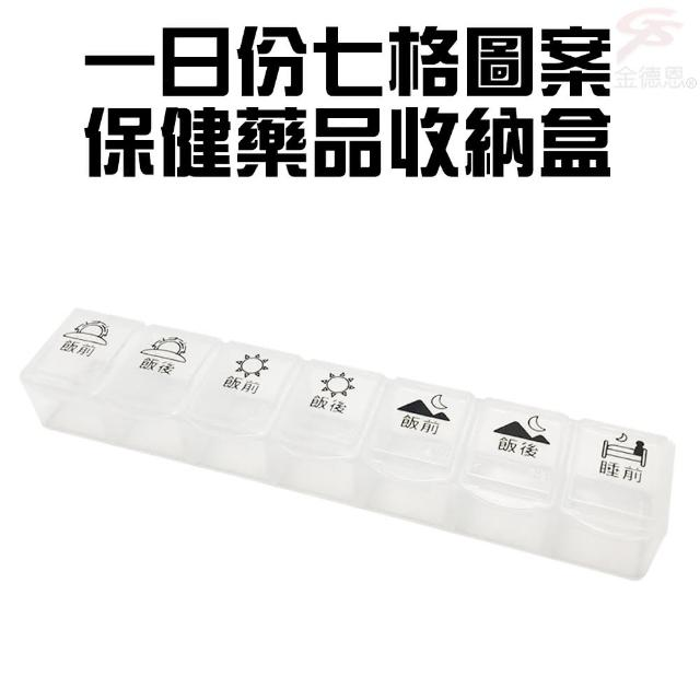 【金德恩】七格圖騰一日份糖尿病專用保健藥盒/收納盒(保健藥盒/收納盒)