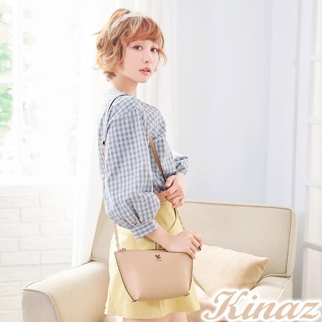 【KINAZ】微风香氛链带斜背包-柔美杏-常春藤系列