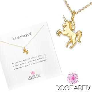 【Dogeared】許願項鍊 金色獨角獸Life is magical unicorn(祈願項鍊)