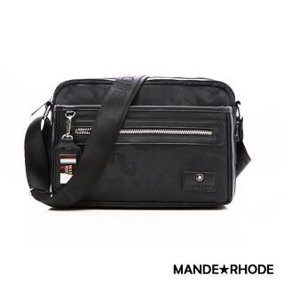 【MANDE RHODE】卡莫雷茲-美系潮男風格隨身斜背包(P2018大款)