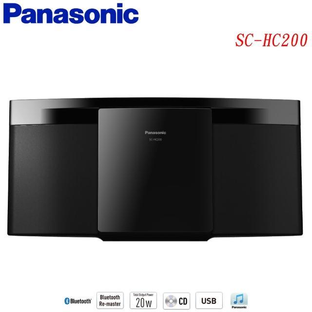【Panasonic 國際牌】輕薄設計輕巧組合音響(SC-HC200-K)