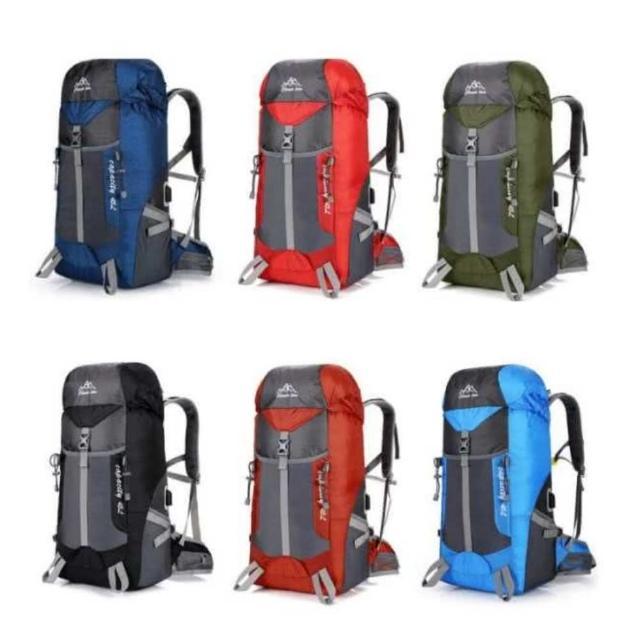 【May shop】大容量旅行户外登山包USB充电双肩运动背包(新款上市)