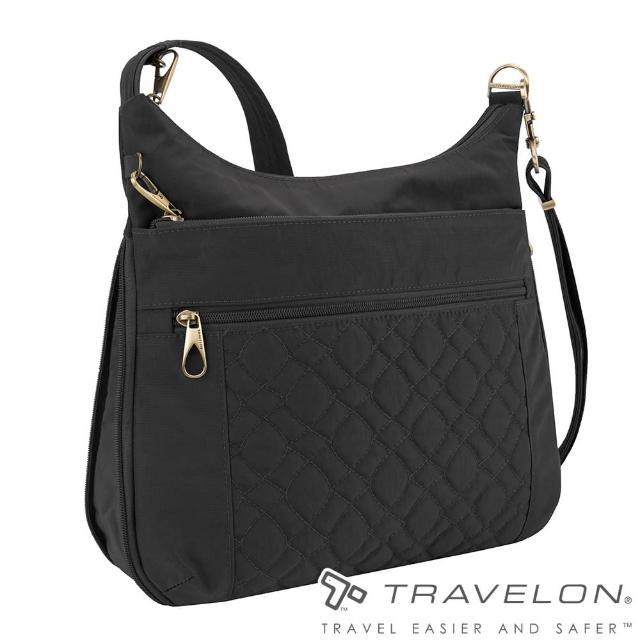 【Travelon】SIGNATURE可扩充斜背包(TL-43325-18黑/出国旅游/都会休闲简约包)