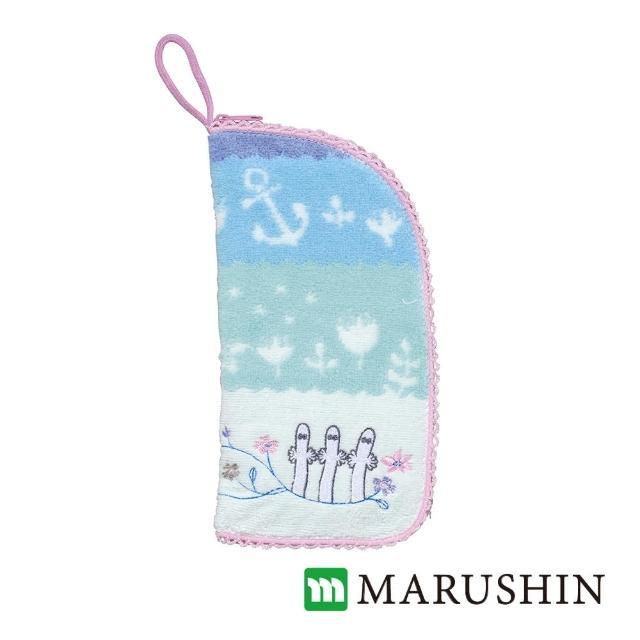 【日本丸真】Moomin速吸雨傘水瓶拉鍊收納套(溜溜們花園)