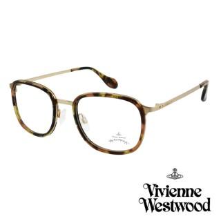 【Vivienne Westwood】英國Anglomania英倫簡約光學眼鏡(琥珀金 AN344M02)