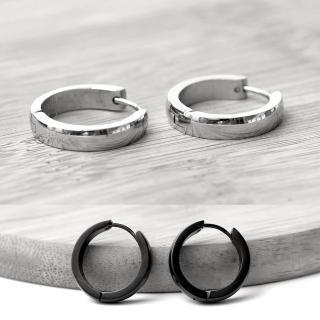 【玖飾時尚】鋼製寬版圈圈耳環(耳針)