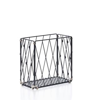 【TZULAi 厝內】自由組鐵線收納籃_圓點窗花_直型