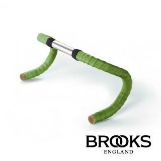 【BROOKS】皮革車把帶 附橡膠端塞 蘋果綠